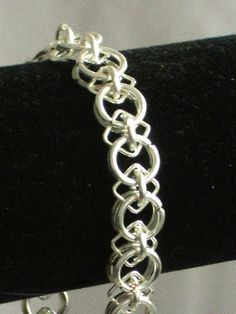 Chainmaille Bracelet Circles and Diamonds by WildLilacDesign, $22.00