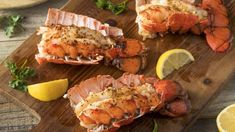 Grilled Lobster Tails with Olive Oil Easy Lobster Tail Recipe, Baked Lobster Tails, Broiled Lobster Tails Recipe, Grilled Lobster, Fresh Seafood, Fish And Seafood, Lobster Recipes, Seafood Recipes, Ceviche