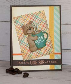 It's Jeanne here today. I hope you all had a great week and are looking forward to the long weekend. Snuggle Bear, Bear Card, Some Cards, Punch Art, Snuggles, Mini Albums, Cardmaking, Card Ideas, Christmas Cards