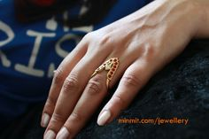 Traditional southindian style hand finger ring.