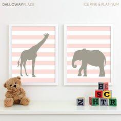 Modern Nursery Art Zoo Nursery Print Safari Animal by DallowayKids