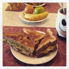 """Avocado and tuna wedges with slices of """"cheese"""".  #valentines #valentinesday"""