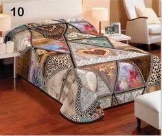 deka a prehoz hnedej farby v rustikálnom štýle so srdcami Stylus, Comforters, Blanket, Furniture, 3d, Home Decor, Creature Comforts, Quilts, Decoration Home