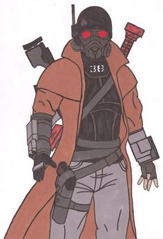 My Main OC of Fallout New Vegas Personality Information Nickname: King Spades Age: 33 Sexuality: Heterosexual Height: Weight: Race: Asian Ha. FNV Elliott the Courier Fallout Comics, Fallout Posters, Fallout Funny, Fallout Fan Art, Fallout Concept Art, Fallout New Vegas, Ncr Ranger, Post Apocalyptic Games, Fallout Cosplay