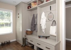 Take a peek at this classic mudroom with storage cubbies on HGTV.com.