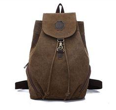 Unisex grey canvas backpack bucket bag casual by canvasbackpack b42f5b314b
