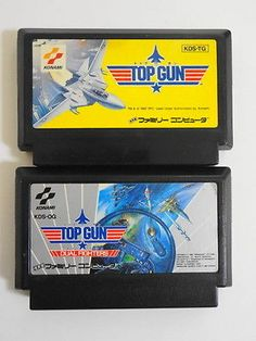 Nintendo Famicom Family Computer NES FC Top Gun Dual Fighters 2 set Game Japan