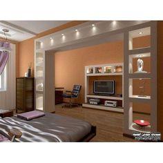 Resultado de imagen para gypsum salas de tv mueble tv for Decoracion dormitorios piso flotante