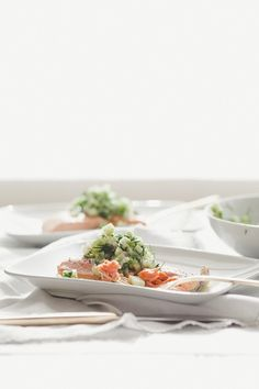 Poached Salmon with Cucumber Salsa | Not Without Salt