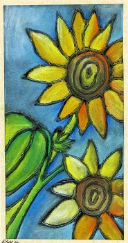 I am so doing this!  that artist woman: Chalk Pastel Sunflowers