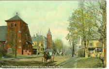 Amesbury, MA Universalist & Catholic Churches on Main Street