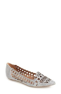 Klub Nico 'Gatinha' Cutout Pointy Toe Flat (Women) available at #Nordstrom