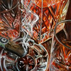 12x12 acrylic on canvas #whiskey #scotch #bourbon #cigar