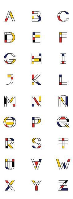 90 Beautiful Typography Alphabet Designs (Part www. Ways to Improve Your Typography Alphabet Design, Logo Design, Graphic Design Typography, Lettering Design, Web Design, Typography Layout, Creative Typography, Modern Typography, Modern Fonts, Vintage Typography