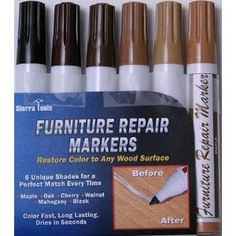 Set Of 6 Assorted Furniture Repair Markers Stain Scratch Floor Pens      Http: