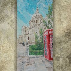 ow.ly/ZEfy30c6M03  <<<< #EBAY  #LONDON St Paul's Cathedral 60x120x4 cm #paletteknife #painting S042 #original #art by Ksavera