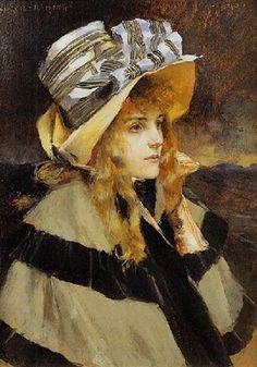 François Flameng (French, 1856–1923) - Portrait de Madame Alfred Stevens , 1892–1892