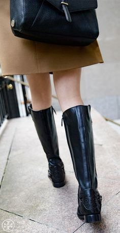 Add a classic equestrian element to looks with our Derby Riding Boot #torybootcamp