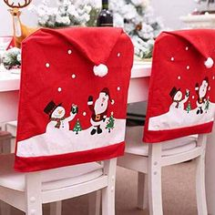 """Universe of goods - Buy New Santa Claus Cap Chair Cover Christmas Dinner Table Party Red Hat Chair Back Covers Xmas Christmas Decorations for Home"""" for only USD. Christmas Chair Covers, Christmas Cover, Cheap Christmas, Christmas Snowman, Merry Christmas, Xmas Table Decorations, Snowman Christmas Decorations, Christmas Themes, Christmas Ornaments"""
