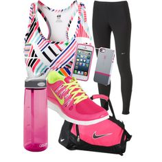 accents of pink fit gear #exercise #clothes #workout #gear