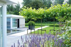 Grote exclusieve tuin in Lelystad