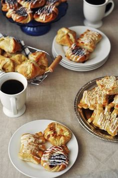 Faux Danish Pastries, including bear claws!