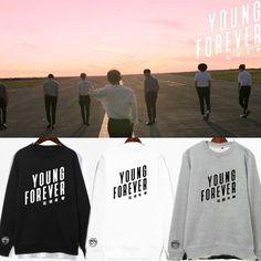 KPOP Bangtan Boys Sweater BTS Sweatshirt Suga Rap-Monster Jacket Pullover L Gray