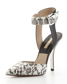 Alana Snake-Print Pump by Michael Kors at Neiman Marcus.