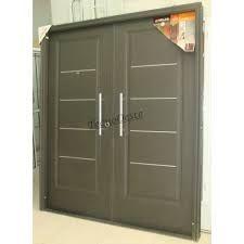 Resultado de imagen para puertas doble de aluminio negro