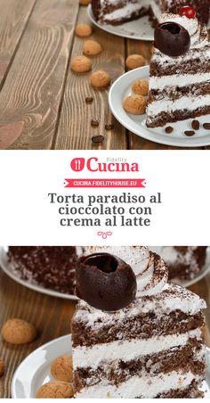 #Torta paradiso al #cioccolato con crema al #latte