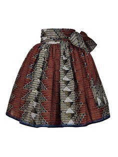 Maya Ankara Skater skirt// African skirts / African skirts for women / African print skirt - Women's style: Patterns of sustainability African Print Skirt, African Print Dresses, African Print Fashion, Ethnic Fashion, Short African Dresses, Latest African Fashion Dresses, Ankara Rock, Maya, African Attire