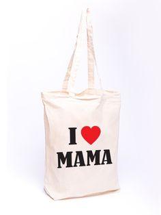 Torba bawełniana - I love Mama - full color w Allbag-Allprints na DaWanda.com