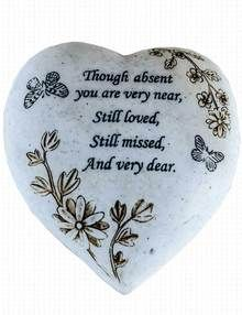 Heart Grave Ornament - Still Loved and Missed