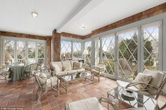 The three-story, shingle-style home features seven bedrooms and six-and-a-half bathrooms.  Real Grey Gardens restored home is for sale.