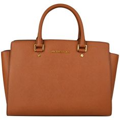 MICHAEL MICHAEL KORS Selma Large Satchel Bag (£330) ❤ liked on Polyvore featuring bags, handbags, satchel handbags, brown satchel handbag, brown handbags, leather satchel and brown satchel