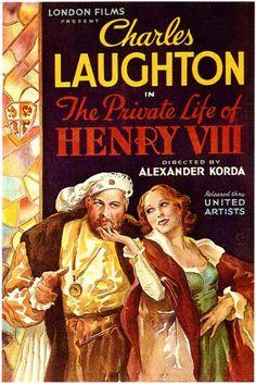 """La Vida Privada de Enrique VIII"" (""The Private Life of Henry VIII"", 1933). Dir. Alexander Korda. Stars: Charles Laughton, Robert Donat, Merle Oberon, Elsa Lanchester."