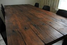 Plank Table, Recycled Wood, Wood Planks, Recycling, Shabby, Dining Table, Rustic, Modern, Vintage