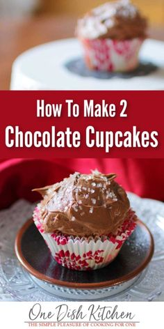 Youll Love This Easy Chocolate Cupcakes Recipe These Cupcakes Are Light And Tender And Topped With A Rich, Easy To Make Chocolate Buttercream Frosting. This Wonderful Recipe Will Yield Two Of The Best Tasting Chocolate Cupcakes. One Dish Kitchen Easy Chocolate Cupcake Recipe, Best Chocolate Cupcakes, Chocolate Buttercream, Homemade Chocolate, Cupcake Recipes, Cupcake Cakes, Buttercream Frosting, Dessert Recipes, Single Cupcake Recipe