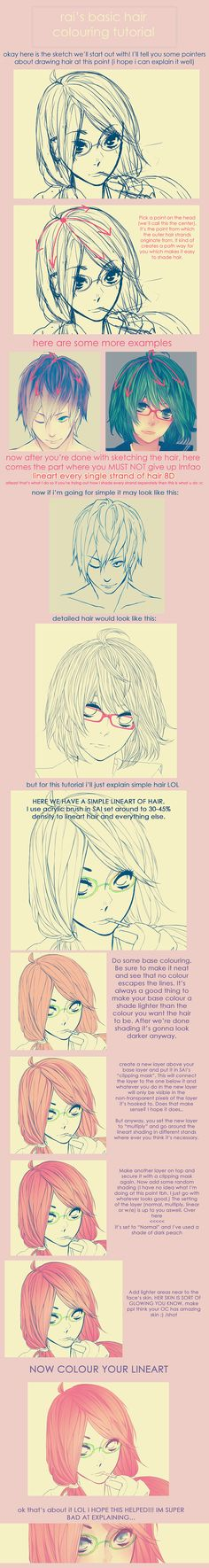 rai's hair colouring tutorial by raichuuuu.deviantart.com on @deviantART