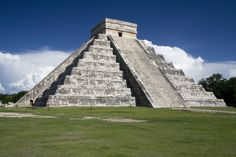 Chichen Itza....been there  Mexico..They use to let you climb to the top....Until several people fell down the stairs and died. Granted- I would not want to climb to the top even if allowed. Narrow steep stairs.