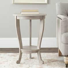 @Overstock.com - Safavieh Cape Cod Grey Pedestal Side Table - This grey pedestal side table is a functional, yet decorative accent piece for any room. The pedestal table features a sturdy wood frame and versatile grey coloring so that it will easily add contemporary style to your home decor.  http://www.overstock.com/Home-Garden/Safavieh-Cape-Cod-Grey-Pedestal-Side-Table/7278131/product.html?CID=214117 $108.89