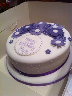 Flower cake - purple