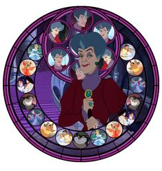 Stained Glass Lady Tremaine by ~IlSelma on deviantART