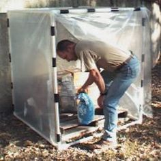 "TONS of PVC pipe projects.  shelves, frames, garden, ...pictured: idea for me - ""splash guard"" for paint sprayer projects"