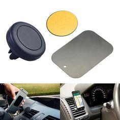Nieuwe auto houder mini air vent outlet mount magneet magnetische telefoon mobiele houder universele voor iphone samsung autohouder