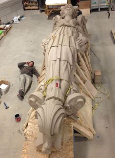 Classically trained sculptors breath new life into four 20-foot angels with the help of photogrammetry software.