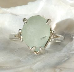 Sea Glass & Sterling Silver Ring