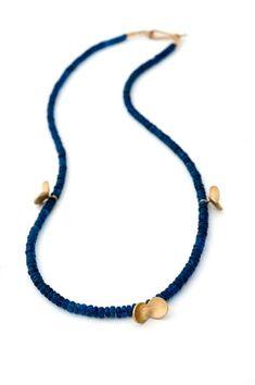 Split Pea Necklace by Nina Ellis Funky Jewelry, Stylish Jewelry, Tribal Jewelry, Metal Jewelry, Jewelry Art, Beaded Jewelry, Beaded Necklace, Unique Jewelry, Rings