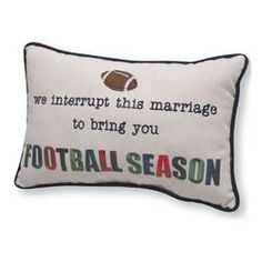 Football Season Quilt Pillow
