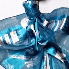 Music Womens Scarf Blue Aqua Notes Strings Brass Wood Piano Band Concert Recital #Unbranded #Scarf #gift